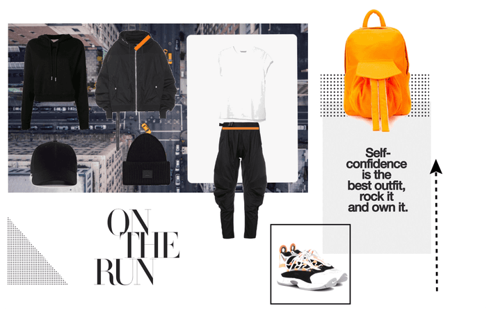 touch of orange on the run