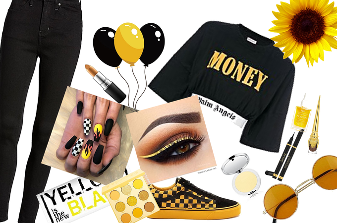 YELLOW AND BLACK🌻🌻💛🖤