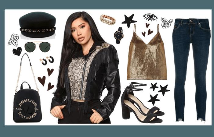 black snake leather jacket
