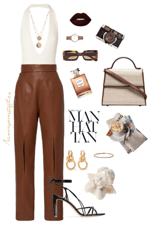 stylish in brown