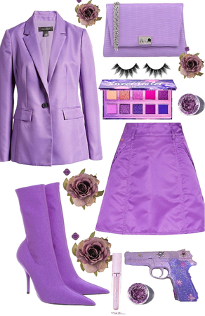 violet outfit