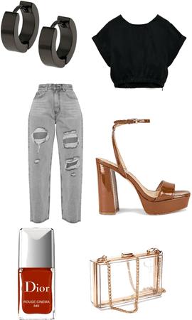 Fancy Street Style #heels #jeans #red