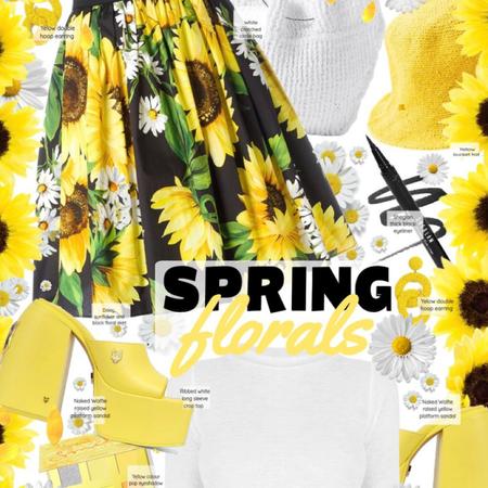 Spring Florals - sunflowers & daises