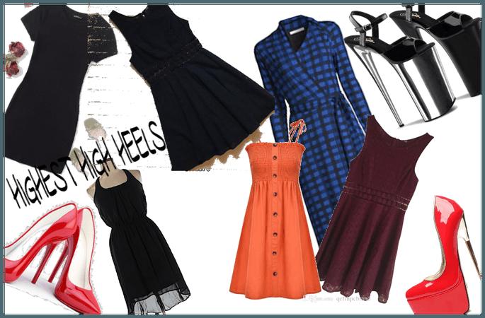 highest heels and dresses
