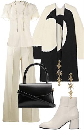 winter white and black