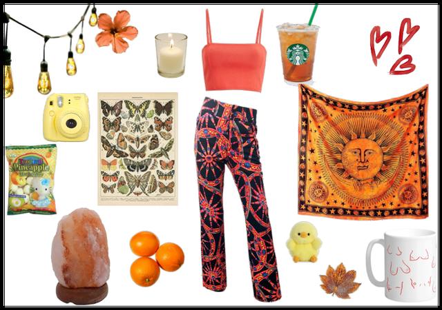 Orange hippie style