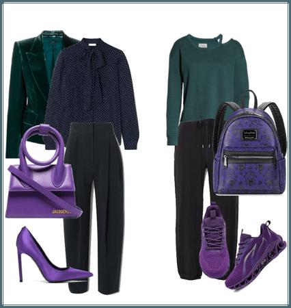 Navy green violet
