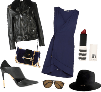 Edgy Black and Blue