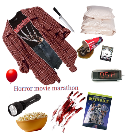 a horror movie night with friends