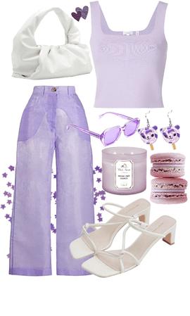 monochromatic purple