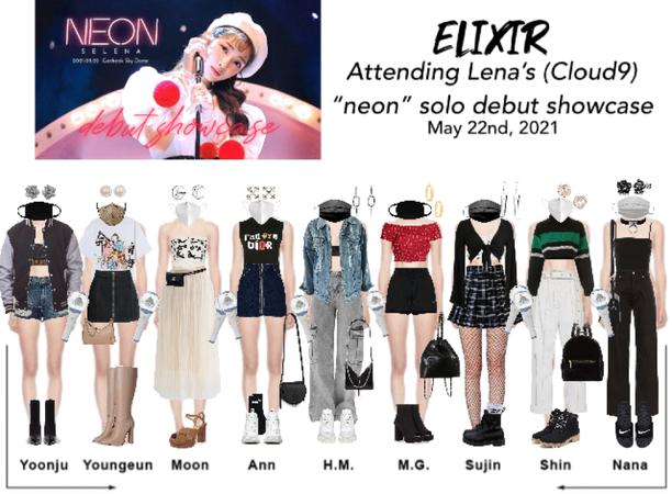 "ELIXIR (엘릭서) Attending Lena's ""neon"" showcase"