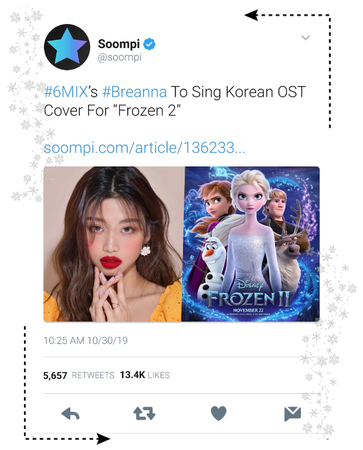 《6mix》Soompi Tweet
