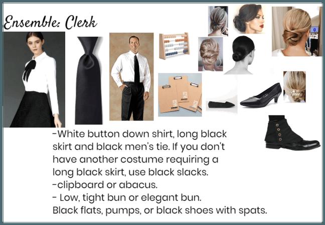Bank clerk costume