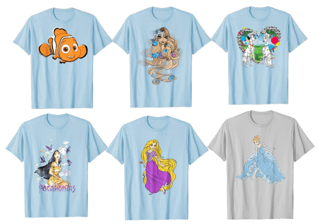 If Disney Characters were on shirts