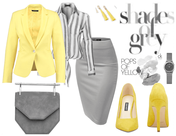 Shades of grey and a pop of yellow