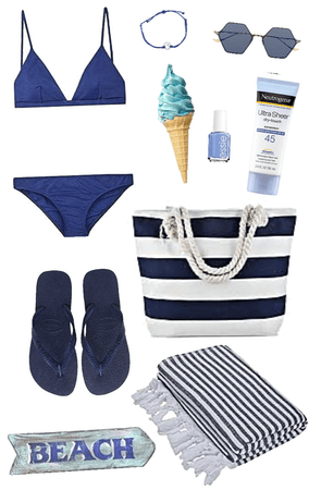 Navy Beachwear