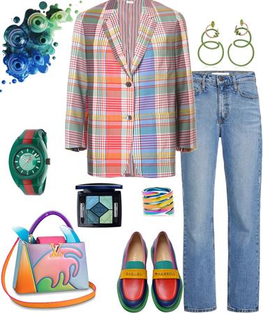 blazer week- crazy outfit