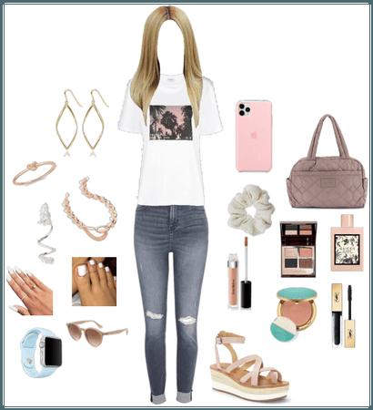 Bold Jeans/ Cute Top