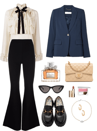 a casual preppy outfit