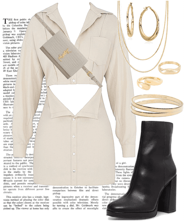 Shirt Dress with Boots