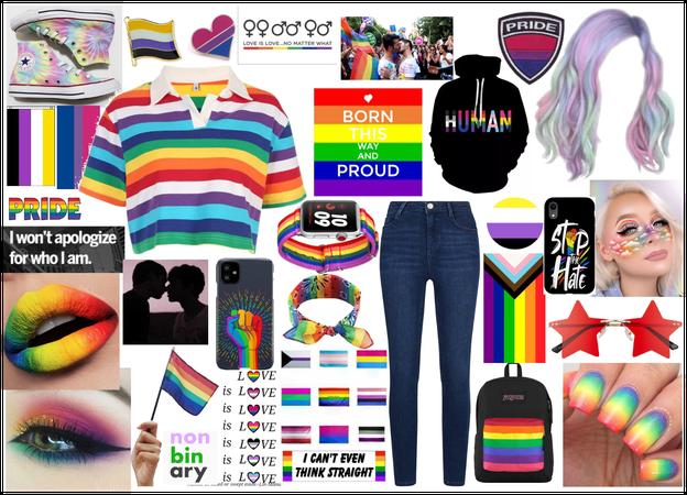 GAY PRIDE <3 -- i'm nonbinary and bi sooo