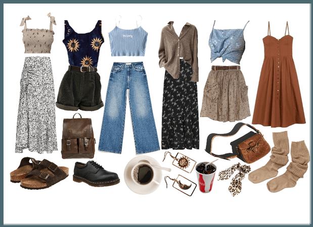 this is basically my summer wardrobe