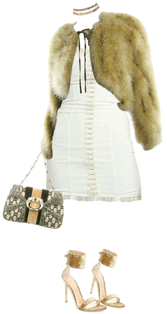 fur coat style / velvet look