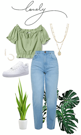 Casual Green Outfit