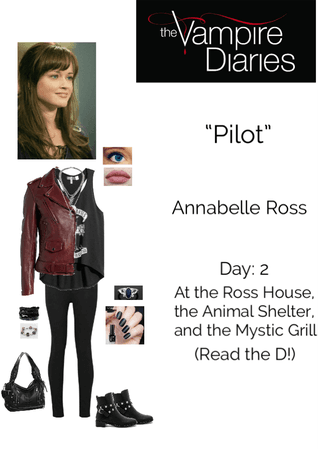 """The Vampire Diaries: """"Pilot"""" - Annabelle Ross - Day 2: At the Ross House, the Animal Shelter, and the Mystic Grill"""