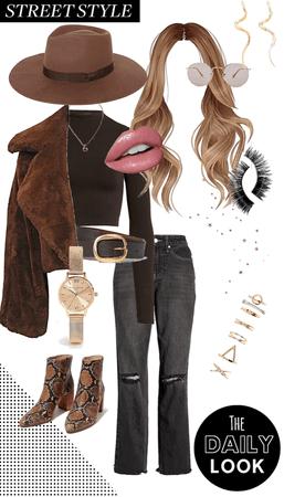 Fall Style - Brown Fur & Snakeskin