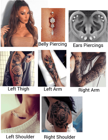 Mia tattoos and piercings