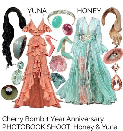 Cherry Bomb 1 Year Anniversary PHOTOBOOK SHOOT: Honey & Yuna