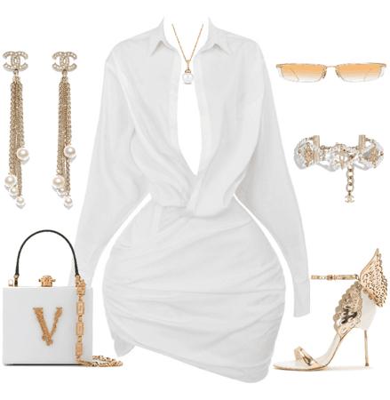 white ensemble