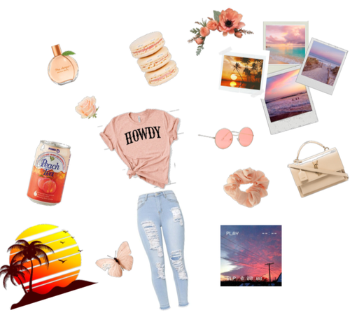 Sunset-Peach Color Themed Outfit