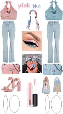 pink and blue summer💙💕