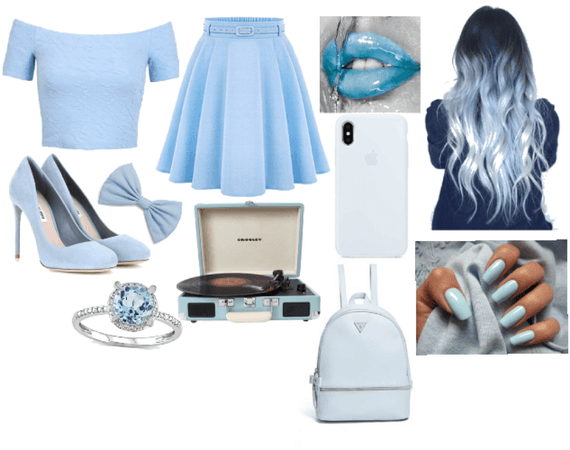pastel blue outfit
