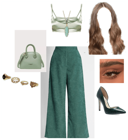 Green Monochromatic Outfit