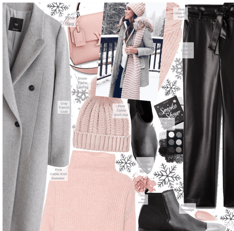 Pink and Gray and black layers