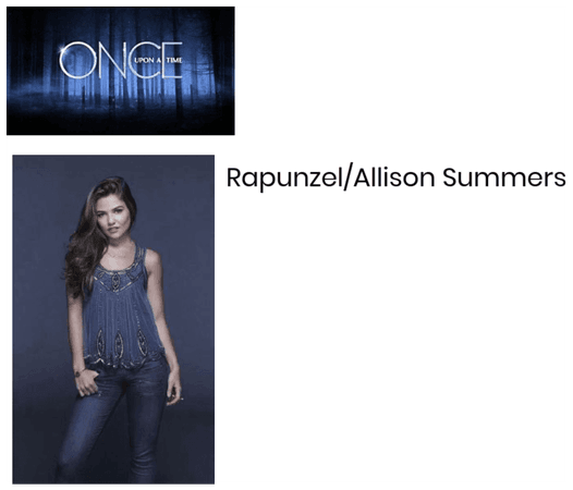 Rapunzel/Allison Summers: My Once Upon a Time OC