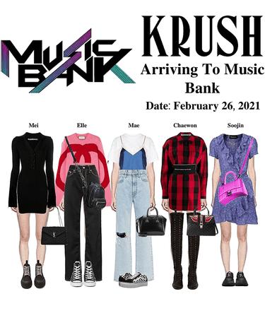 KRUSH Arriving To Music Bank