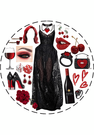 Red Goth Aesthetic