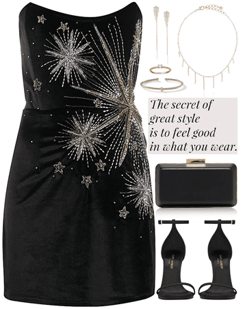 fancy,elegance,night party  look