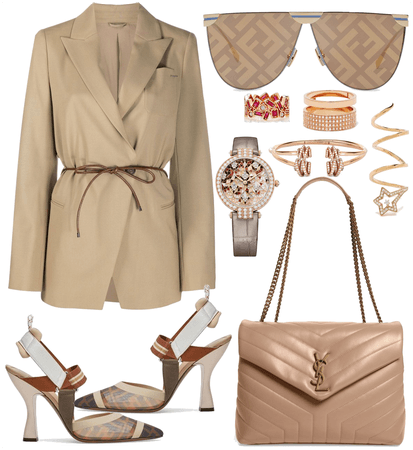 Beige Nude Outfit