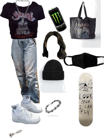 Grunge Skate Girl