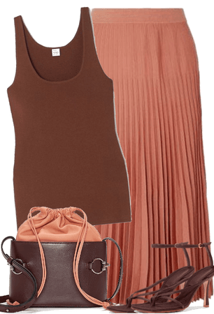 BROWN AND DUSTY ROSE