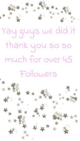 thank you guys so so much