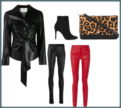 leather blazer fit