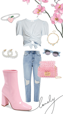 baby blue and pink