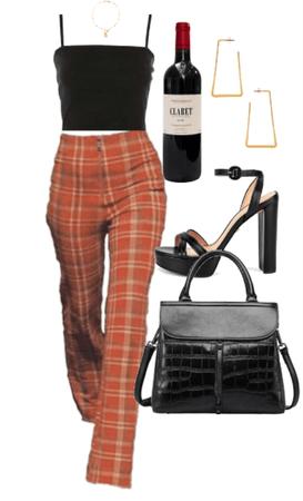 black orange pants