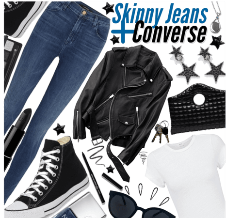 Skinny jeans and converse 😎 new contest